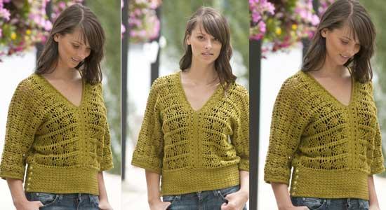 patrón blusa crochet