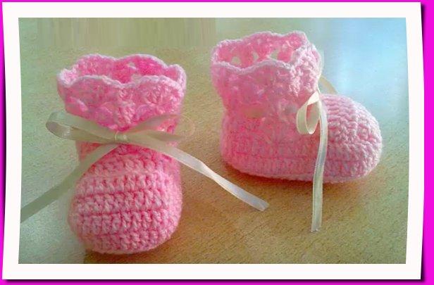 Patrón de zapatitos de bebe tejidos, hazlo tu misma