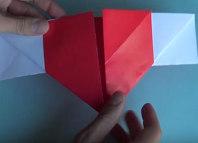 origami corazón alado