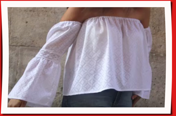 DIY: Camisa blanca sin hombros para chicas