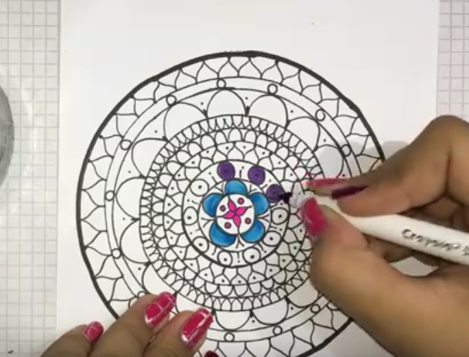Patrón para Mandala dibujado ¿Qué te parece si aprendes?