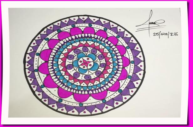 Patrón para Mandala dibujado